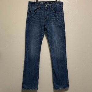 American Eagle Mens denim Relaxed Fit Blue Jeans